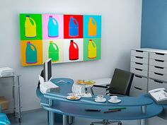Want to be surrounded by a form of creativity that can improve your staffs' lateral thinking? Invest in some Pop Art, Lateral Thinking, Office Artwork, The Office, Interiores Design, Laundry Room, Improve Yourself, Room Decor, Canvas Prints