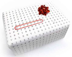 Print out word searches or puzzles on computer paper and wrap gifts up in those.