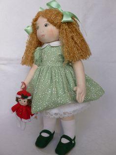 "SALLY ANN. A 16"" rag/cloth handmade OOAK doll. By Brenda Brightmore. | eBay"