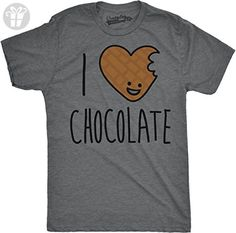 Mens Scented Ink I Heart Chocolate Scratch and Sniff Candy Smelling T shirt (Grey) L (*Amazon Partner-Link)