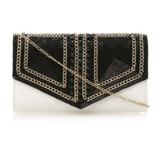 955fa2b63d9 EADED - Bead And Chain Detail Clutch Bag   Clutch Bags By Dune Available  Online at
