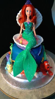 Childrens Birthday Cakes Barbie mermaid cake Vanilla cakes with