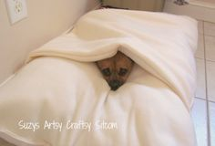 Free envelope dog bed tutorial and pattern @suzyssitcom #sewing