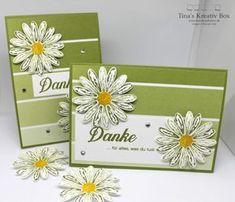 Dankeschön Karte Gänseblümchen - mit Produkten von Stampin' Up!