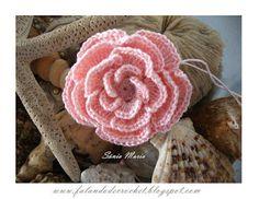 Crochet Rose Cushion, Rug, Pouf  + Diagrams