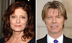 Susan Sarandon says, David Bowie and her got together just over 30 years ago when working on the horror film The Hunger.