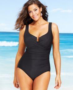 ce3e72129d Miraclesuit Plus Size Escape One-Piece Swimsuit With Underwire & Reviews -  Swimwear - Plus Sizes - Macy's