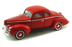 Diecast Auto World - Motor Max 1/18 Scale 1940 Ford Deluxe Red Hard Top Diecast Car Model 73108, $32.99 (http://stores.diecastautoworld.com/products/motor-max-1-18-scale-1940-ford-deluxe-red-hard-top-diecast-car-model-73108.html/)