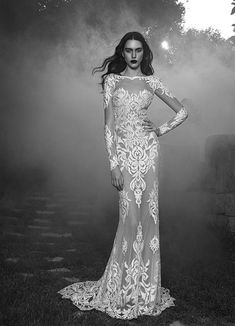 Tammy wedding dress from Zuhair Murad wedding dresses Fall 2016 - Long sleeve lace couture wedding gown -  see the rest of the collection on www.onefabday.com