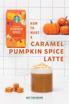 Pumpkin spice and caramel? Yes, and yes. Whip up a Caramel Pumpkin Spice Latte and enjoy an extra layer of deliciousness in this caramel-flavored twist on a fall favorite. Starbucks Pumpkin Spice Latte, Starbucks Caramel, Pumpkin Spiced Latte Recipe, Starbucks Coffee, Shake Recipes, Fall Recipes, Holiday Recipes, Starbucks Hacks, Starbucks Recipes