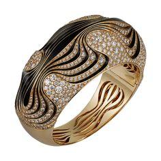 Браслет Paris Nouvelle Vague - Розовое золото, бриллианты, черный лак - Fine Браслеты для женщин - Cartier