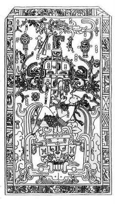The first father from Mayan mythology sacrificing himself to create the World Tree.