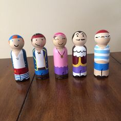 Jake and the Neverland Pirates peg doll set door ClarasCreations2011