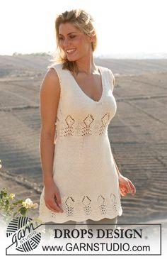 "DROPS dress in textured pattern in ""Muskat"". ~ DROPS Design"