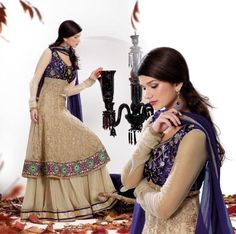 $147.71 Brown Embroidery Pakistani Wedding Salwar Kameez 22366