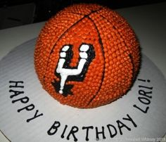 Spurs Basketball 3D Cake-Decorate with Stars Bonus class when you sign up for Intro to Cake Decorating!