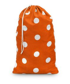Take a look at this Orange Team Dot Laundry Bag by Buckhead Betties on #zulily today!