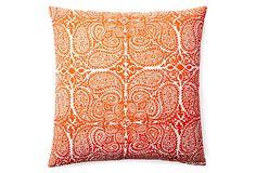 One Kings Lane - Refresh Your Palette - Maya 20x20 Cotton Pillow, Saffron