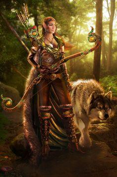 flyintomydreamworld:  Anari and Kekoa by LunaSea3D