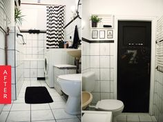 Before and After: A Dreary Rental Bathroom Gets A Fresh Makeover for Just $60