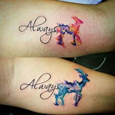 Always couples tattoo Buck and Doe