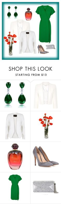 """""""Beatriz"""" by marciabackermendes ❤ liked on Polyvore featuring Monsoon, River Island, Christian Dior, Gianvito Rossi, Topshop and BCBGMAXAZRIA"""