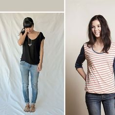 Find the best free t-shirt sewing patterns available. Free tee pattern for women, men, girls, boys, kids. Learn how to sew or make a t-shirt.