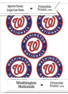 Small Washington Nationals Logo Cut Outs from PrintableTreats.com