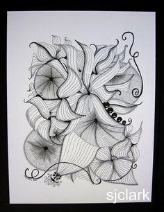 Tangled Ink Art: My Zentangle Inspired Art Doodles Zentangles, Zentangle Patterns, Zen Doodle, Doodle Art, Crafty Fox, Doodle Inspiration, Drawing Techniques, Ink Art, Pattern Art