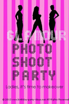 Glamour Photo Shoot Birthday Party...love this idea for a girls get together