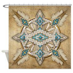 Native American Style Mandala 29 Shower Curtain