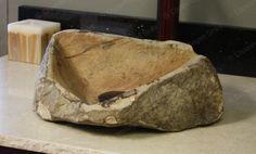 Medium Sized Sandstone Sand Stone Hand carved stone boulder vessel bathroom sink. $399.95, via Etsy.