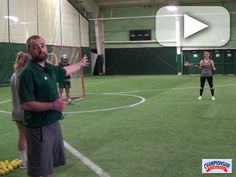 Watch as Coach Remington Steele explains and players demonstrate this inside feed drill with two goalies.