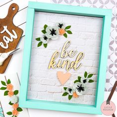 A daily dose of scrapbooking, cardmaking and mixed media inspiration - lots of amazing how-tos and projects to get your creative juices flowing. Spring Home Decor, Easy Home Decor, Letter A Crafts, Craft Letters, American Crafts, Decor Crafts, Cardmaking, Easy Diy, Frames