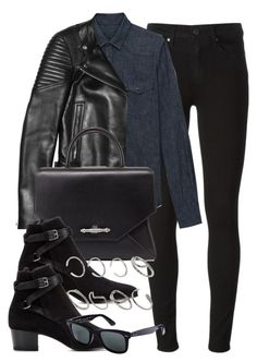 """""""Style #6761"""" by vany-alvarado ❤ liked on Polyvore featuring Paige Denim, Yves Saint Laurent, Givenchy, ASOS and Ray-Ban"""