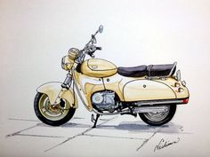 バイク イラスト SUZUKI  SW-1