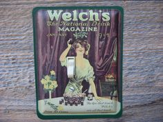 Welchs Grape Juice Tin Single Switch Plate SP-0210 made from an old advertising tin!