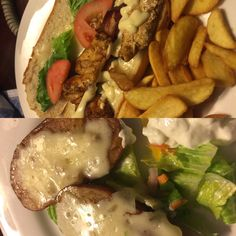 Chix club and baked potato, sandals grande St Lucian, September 2016.   Www.vacawithmark.com