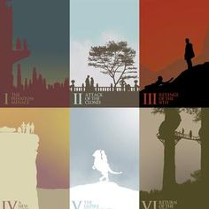 Creative Star Wars Posters in Silhouette
