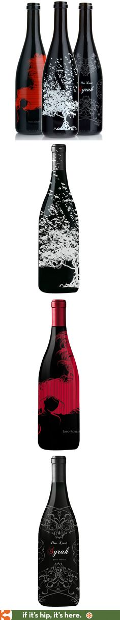 Lovely sceen-printed bottles for the wines from McClean X Vineyards