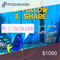 NEW FOLLOW GAME!! Follow me and I'll follow you!! Follow me and I'll follow you!! Let's grow together! Brand new follow game!                                                       1. Like this post                                                                        2. Follow EVERYONE who liked this post                           3. SHARE💜SHARE💜SHARE💜                                       Don't forget to come back and follow!! Follow Game Other