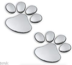 1 pair chrome effect dog cat paw #print decal car #window door bumper #sticker 3d,  View more on the LINK: 	http://www.zeppy.io/product/gb/2/262323872008/