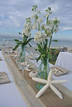 107 Best Beach Wedding Centerpieces Images Destination Wedding