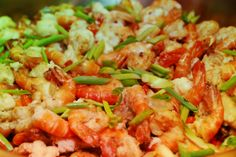 A delectable Shrimp and Chinese Broccoli Salad by our Guest Chefs from Swissotel Kunshan
