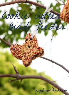 Juggling With Kids: Cookie Cutter Bird Feeder