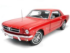 Home :: Diecast Cars :: Ford :: 1964 1/2 Ford Mustang Hardtop 1:18 Scale - Welly Diecast Model (Red)