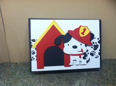 2012 Dalmation puppy -firehouse dog birthday card-Made by Kris
