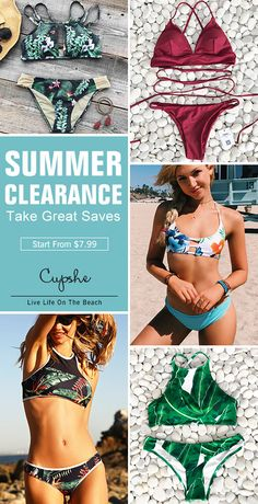 Enjoy Bikini Surprising Promotion For You~ Start from $7.99 with better service and quality. Various adorable styles: Cross, Tank-top, Halter and Lace-up~ Find ALL Pieces On Cupshe.com And Check Them OUT!