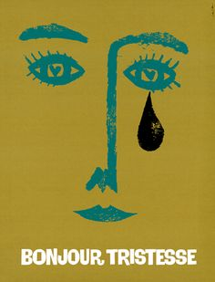 Bonjour Tristesse 1958  movie poster by Saul Bass