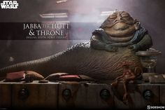 Sideshow Collectibles - Star Wars: Return of the Jedi - Jabba the Hutt and Throne Deluxe Sixth Scale Figure Set Star Wars Toys, Star Wars Art, Star Trek, Star Wars Collection, Star Wars Episode Vi, Diorama, Jouet Star Wars, Figurine Star Wars, Jabba The Hutt